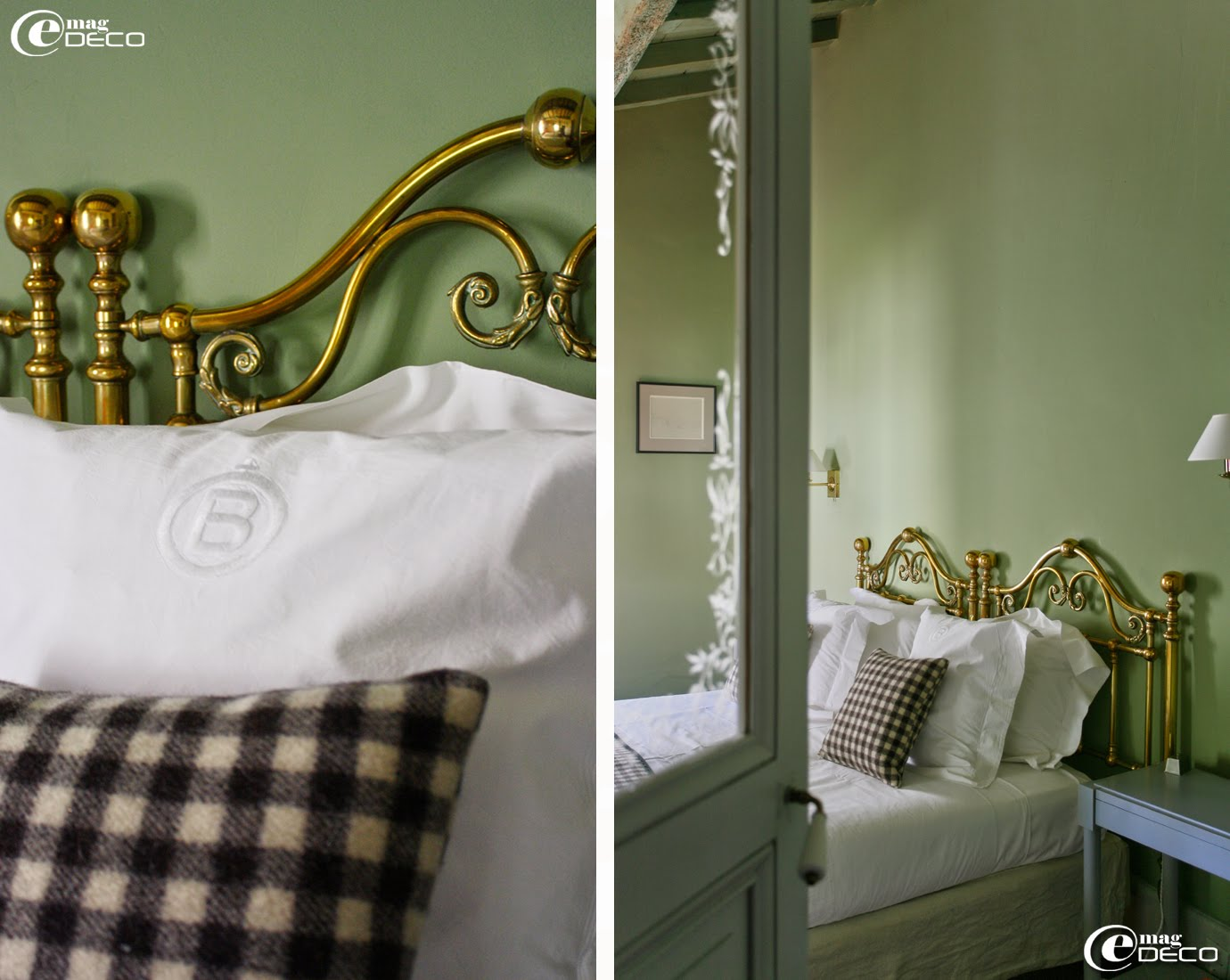 Parures de draps tissés par Jean Vier pour Le Mas de Peint, hôtel 5 étoiles au Sambuc, en Camargue