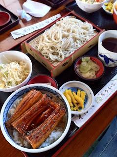 越谷市まるか家のミニうな丼セット¥1000