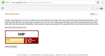 Cara Termudah Submit url ke Google WebMaster