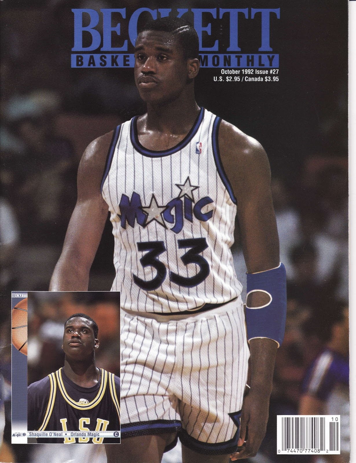 Shaq pre-draft photo from Beckett Basketball Monthly