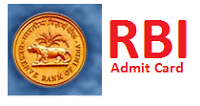 Reserve Bank Of India Admit Card