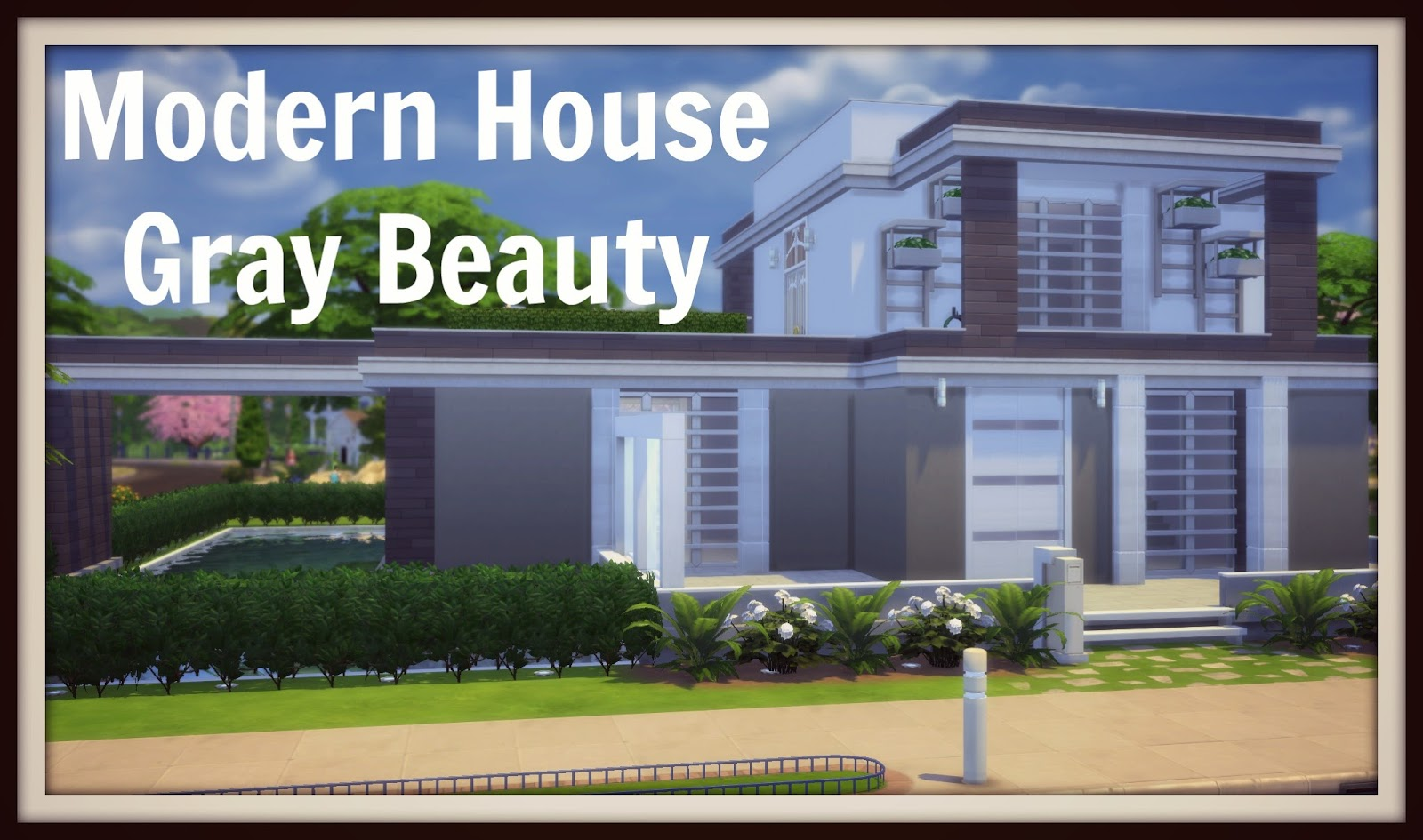 Sims 4 - Modern House (Gray Beauty) - Dinha