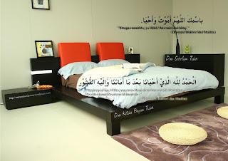 Selalulah berdoa sebelum dan sesudah tidur.