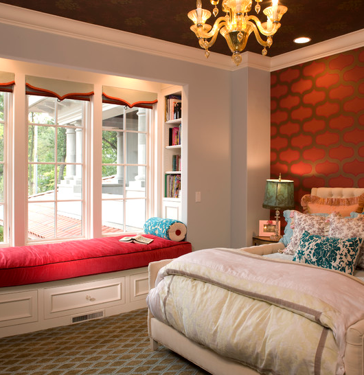 Greensboro interior design window treatments greensboro custom window treatments - Bay window bedroom ideas ...