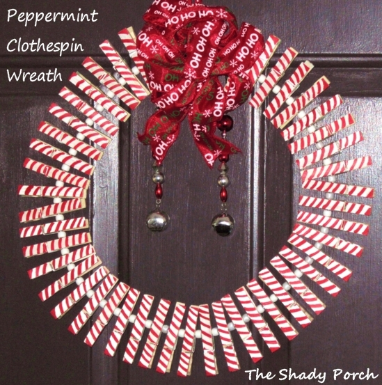 Peppermint Clothespin Wreath