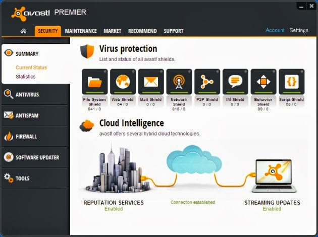 Free Download Antivirus Avast Premier 2014 Full Version