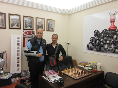 President of Istanbul Chess Club Arno Garabetyan with Yours Truly
