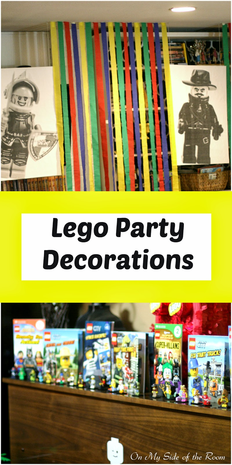 Lego birthday party decorations for Decoration lego