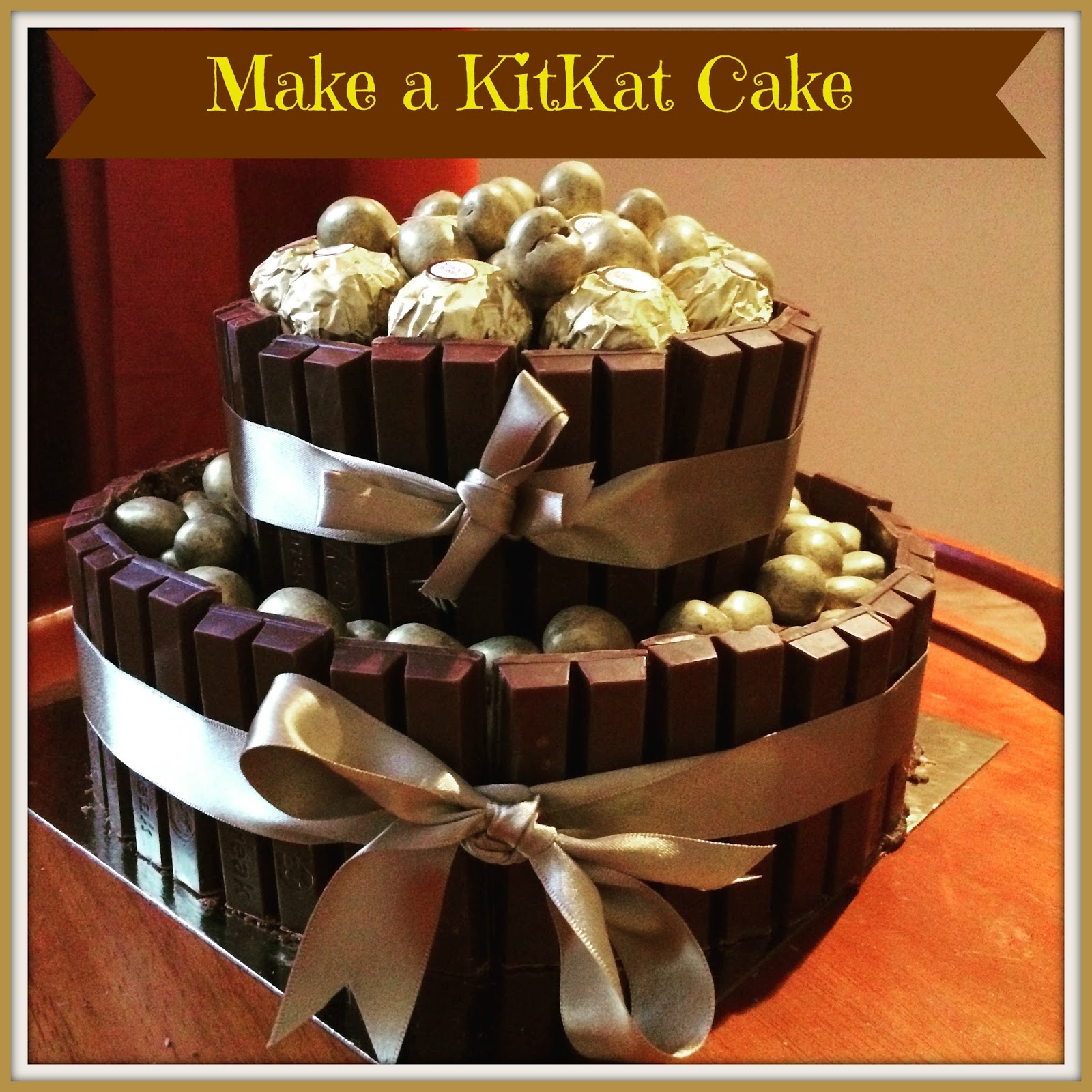 The Syders How To Make A Two Tier KitKat Cake