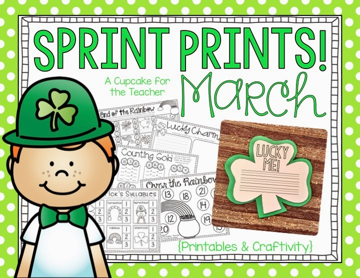 Classroom Ideas For March ~ March bulletin board tutorial and sprint prints a