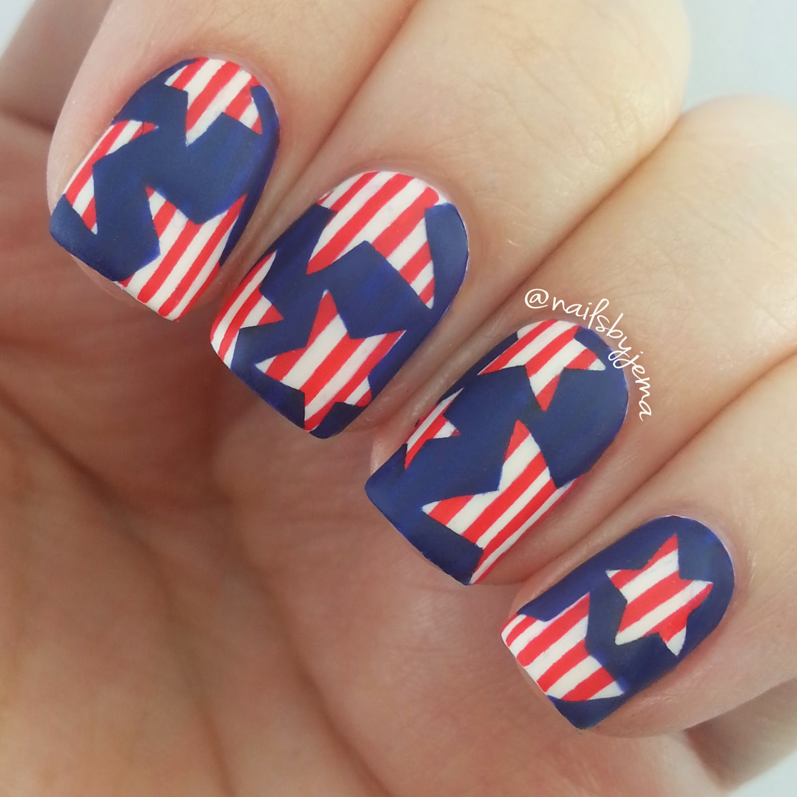 N A I L S B Y J E M A: 4th Of July Nails