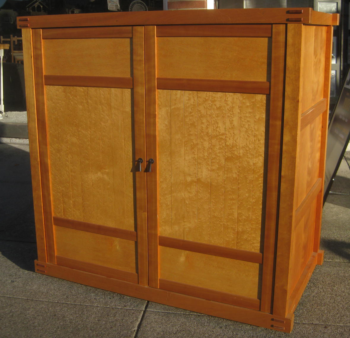 Uhuru Furniture Collectibles Sold Tv Armoire With Birdseye Maple 90