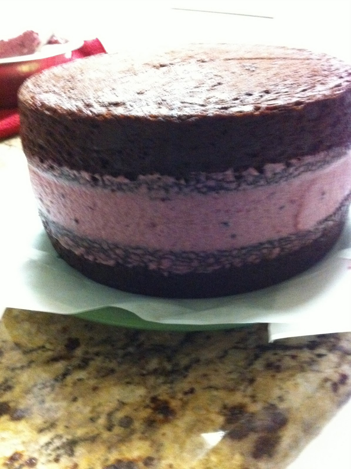 ... Layer Chocolate Cake with Blackberry Jam Filling and Chocolate Creme