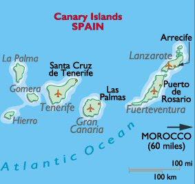 Canarias Mapa Ciudad de la Región