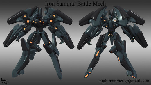 Iron Samurai Battle Mech por NightmareHero