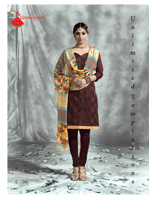Massup – Chanderi Silk Churidar Dress Material Suppliers