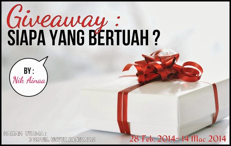 Giveaway: Siapa Yang Bertuah?