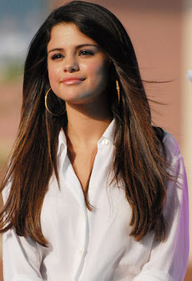 Selena Gomez Gold Hoop Earrings