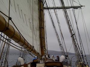 The Irving Johnson's Main Sail Set
