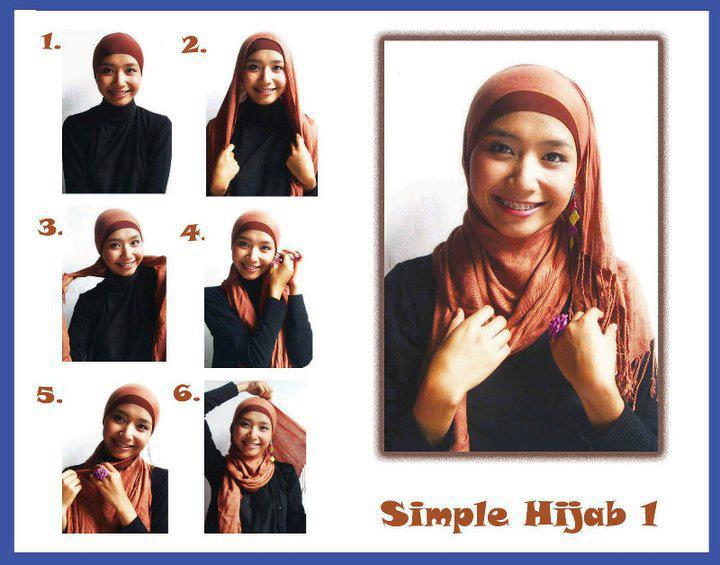 Tutorial Gambar menggunakan Hijab yang benar dan baik