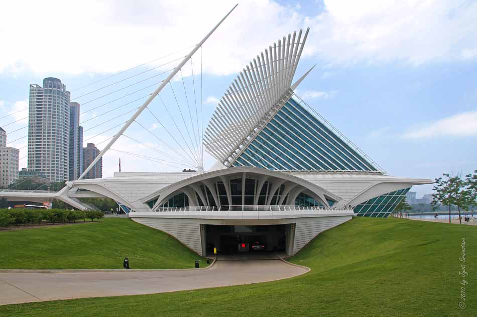 Chicago Architecture Cityscape Milwaukee Art Museum The