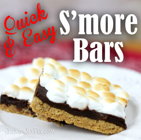 Oven Toasted S'mores Bars from The Kim Six Fix