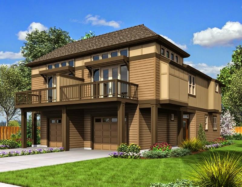 rumah kayu minimalis 2 lantai