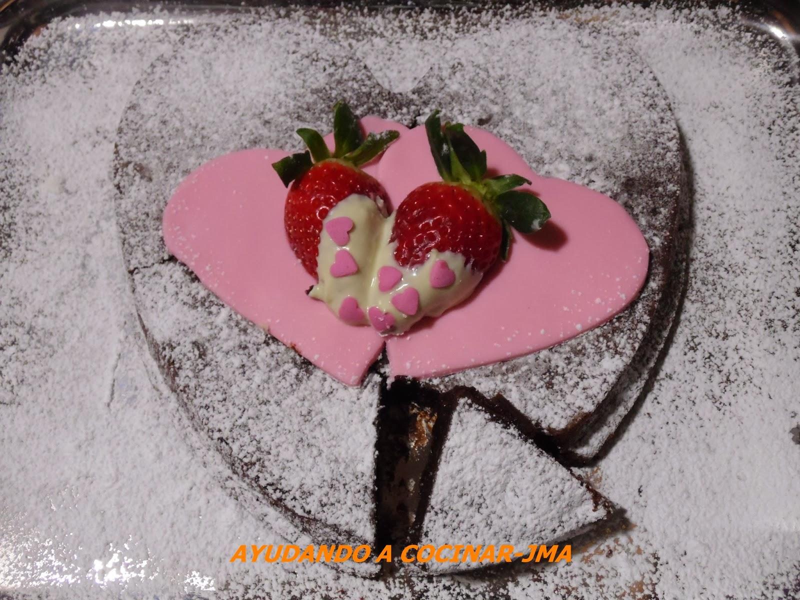 Pastel De Chocolate San Valentín