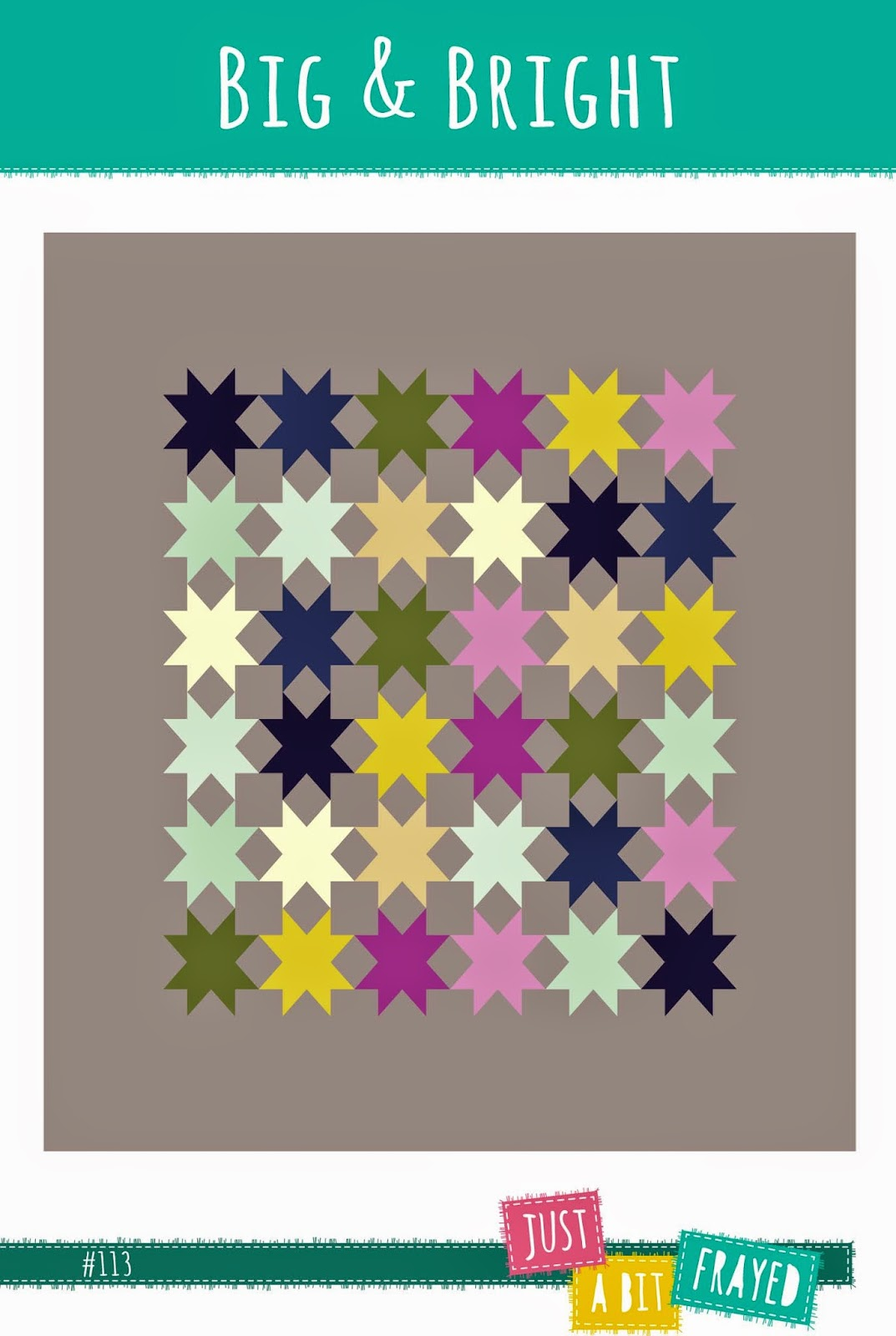 Big & Bright Quilt Pattern