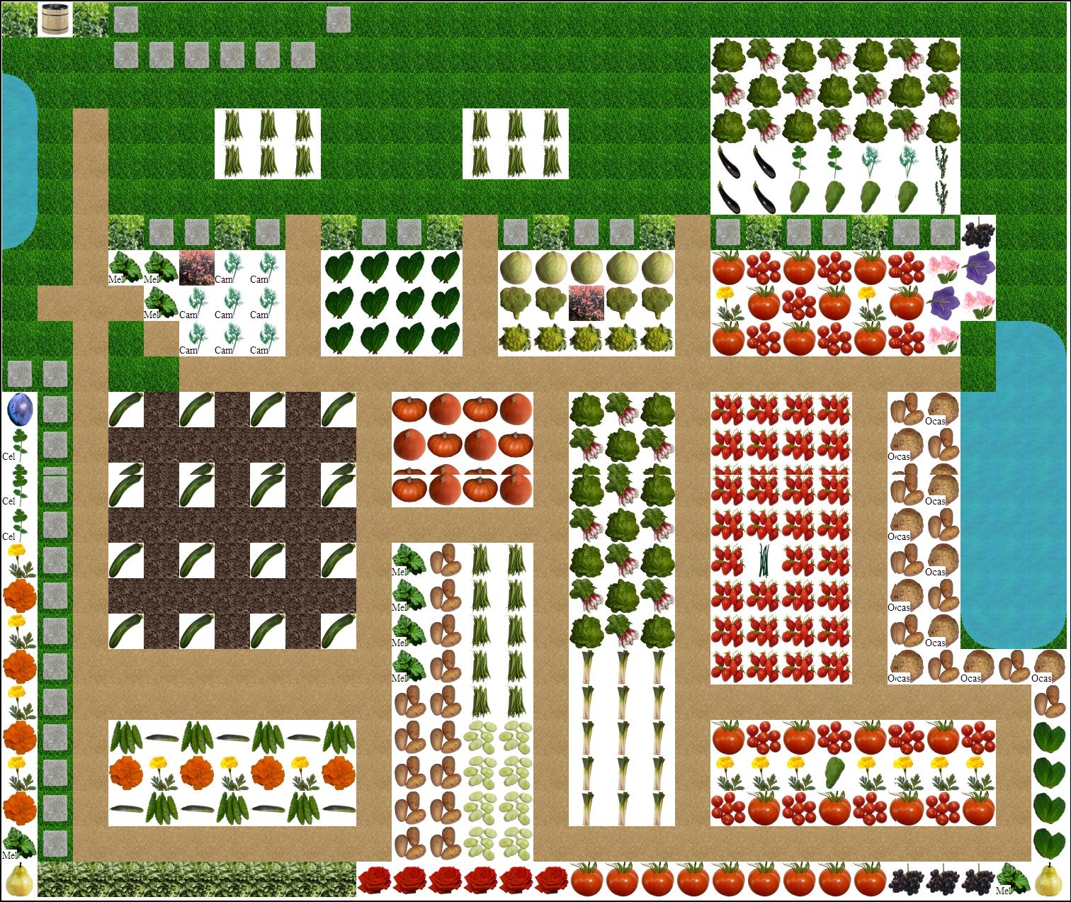 Plan 2014 du potager de madorre madorre - Plan de jardin ...