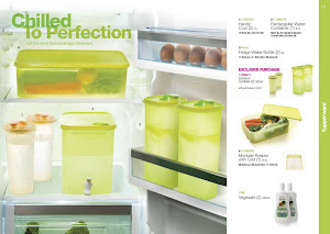 Tupperware Green Fridge Water Bottle (1)-RM40-Free postage