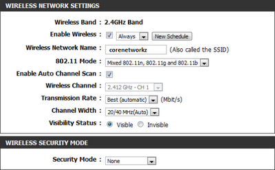 configure  wireless name in d link router