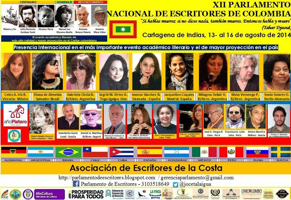 XII PARLAMENTO NACIONAL DE ESCRITORES DE COLOMBIA