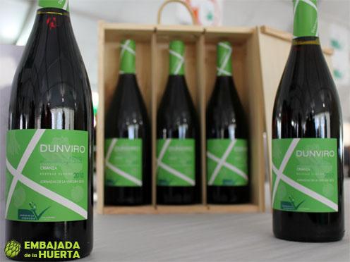 Crianza 2010 de Bodegas Dunviro embotellado para las Jornadas Gastronómicas de la Verdura de Calahorra 2013