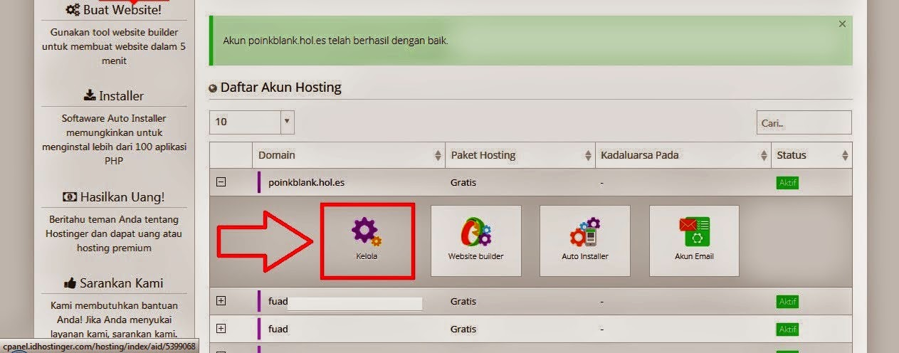 Cara Mengubah domain blogspot.com menjadi domain idhostinger by tutorial kumplit