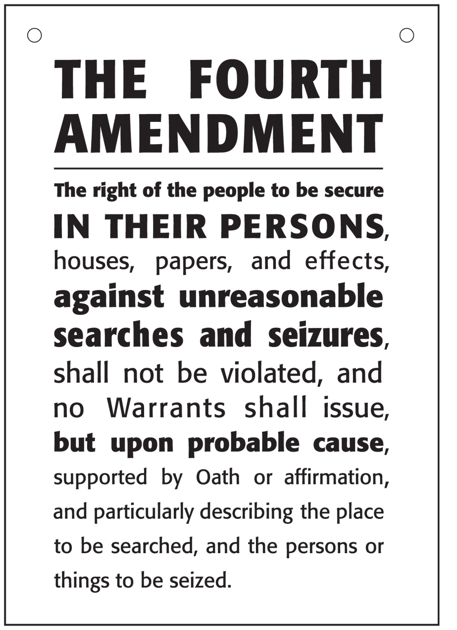 an overview of the fourth amendment of the united states and the protection of private property A hypertext version of the united states constitution  amendment 1 - freedom  of religion, press, expression  of the second class at the expiration of the  fourth year, and of the third class at the  or property, without due process of  law nor shall private property be  please review our privacy policy.