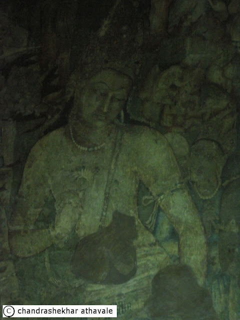 Rock cut buddhist temple of ajantha