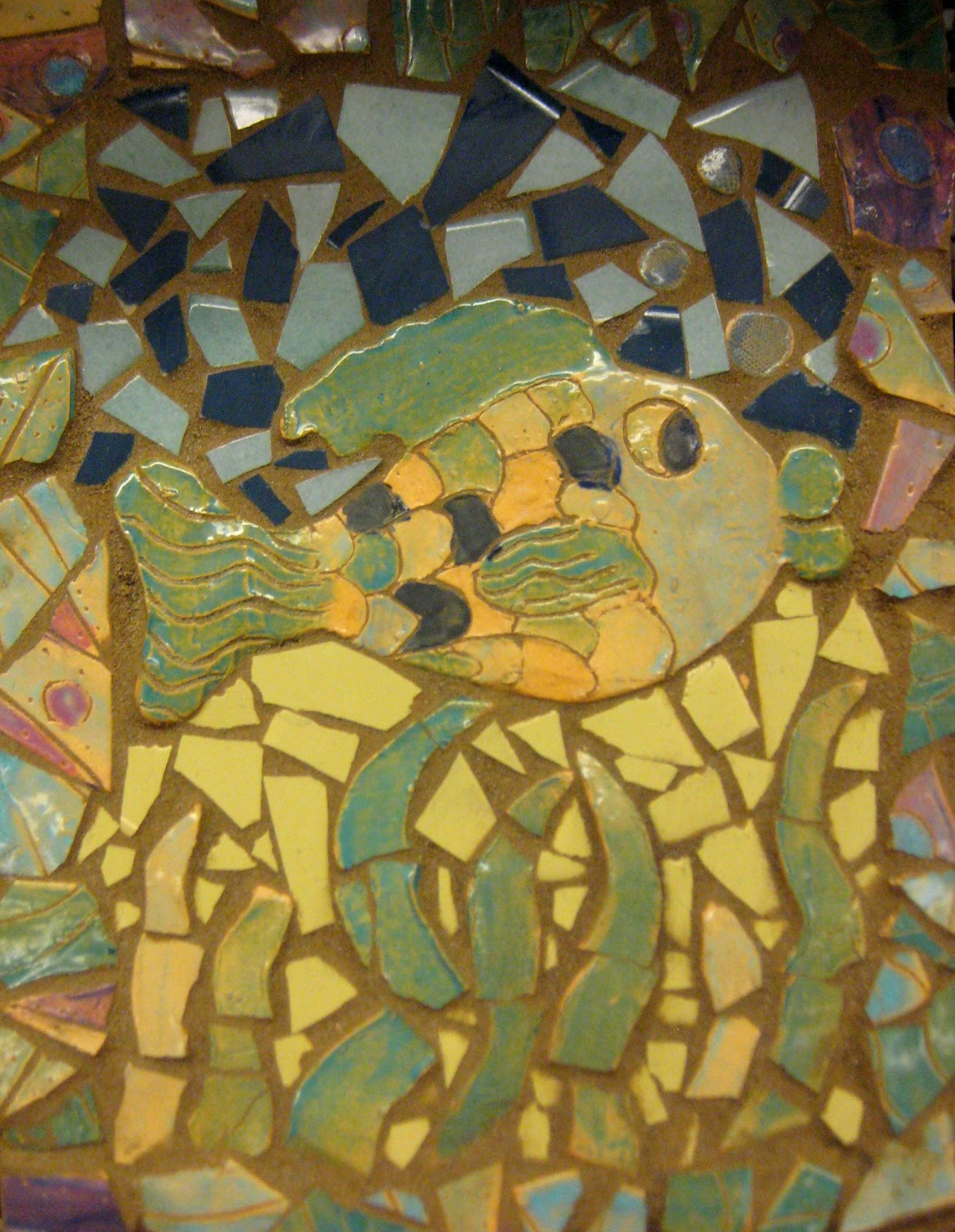 Experiments in Art Education: Clay Tile Mosaics