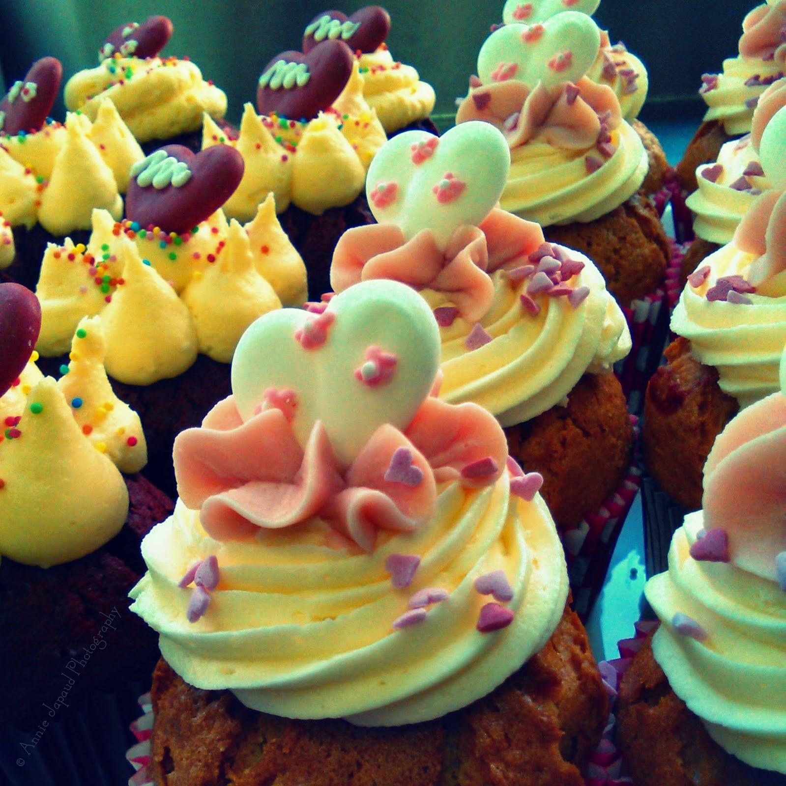 cupcakes up close