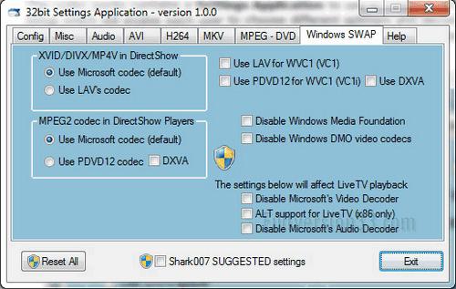 STANDARD Codecs