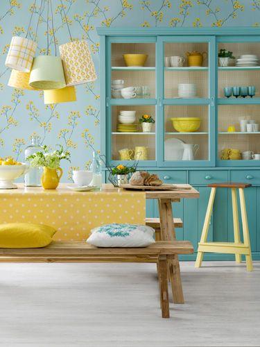decoración amarilla