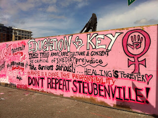 Consent Is...Don't Repeat Steubenville Mural