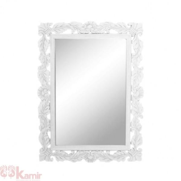 Espejos con marco blanco latest espejo de madera blanco for Espejo blanco envejecido