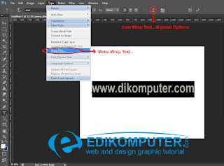Cara Membuat Teks melngkung di Photoshop