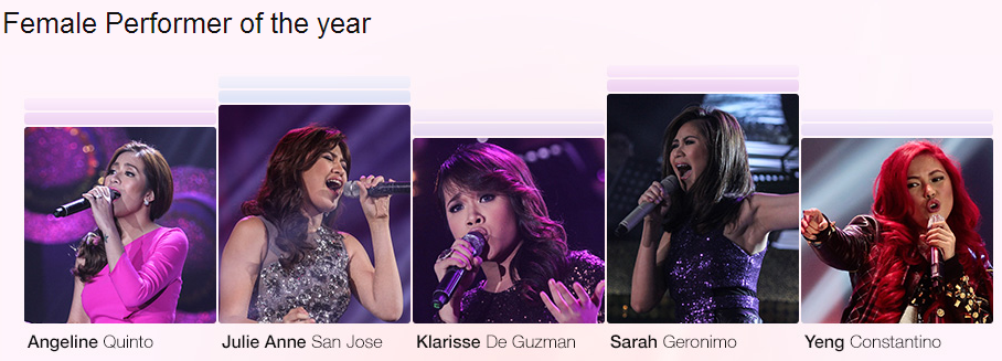Female Performer of the Year