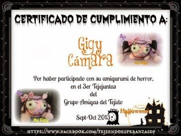 Certificado del 3er Tejejuntas del Gpo Amigas del Tejido D.F.