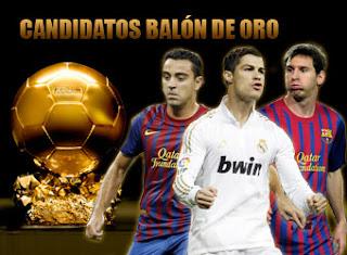 Listos los tres nominados al Balón de Oro 2011