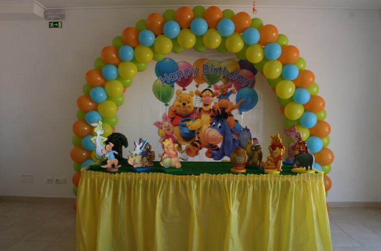 Festa De Aniversario Ursinho Pooh Puff Festa Infantil Festa De  Auto