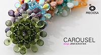 "Кулон ""Карусель"" из прессованных бусин Пип и твина Carousel pendants made from Twin Roller and Pip™-pressed beads"