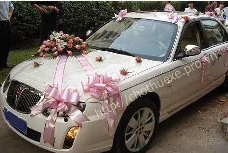 Các cách trang trí xe hoa cho đám cưới đẹp và đơn giản 2